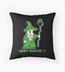 Open Sourcerer Throw Pillow