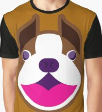 Happy Puppy Face Brownie Graphic T-Shirt
