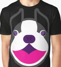 Happy Puppy Face Blackie Graphic T-Shirt