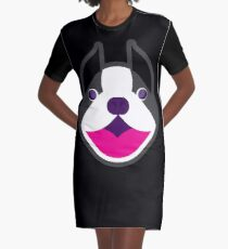 Happy Puppy Face Blackie Graphic T-Shirt Dress