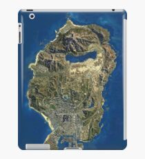 Grand Theft Auto V Map iPad Case/Skin
