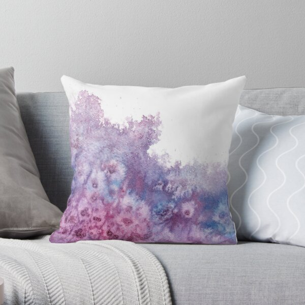 Watercolor Splash III Throw Pillow