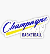 Champagne Basket 1 White Sticker