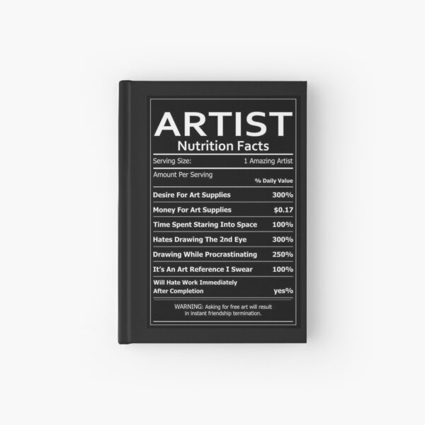 ARTIST Nutrition Facts Hardcover Journal