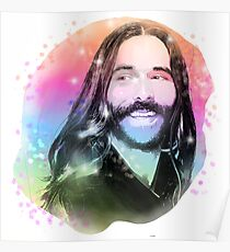 Jonathan Van Ness Rainbow Portrait Poster