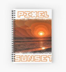 PIXEL SUNSET sunset Spiral Notebook