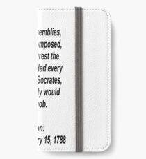 Reason and logic lost to passion iPhone Wallet/Case/Skin