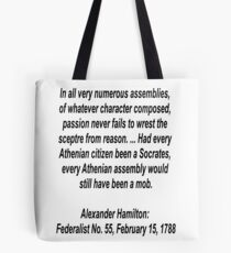 Reason and logic lost to passion Tote Bag