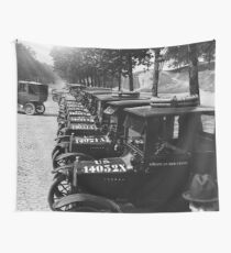 Red Cross Automobile Fleet - Paris - 1918 Wall Tapestry