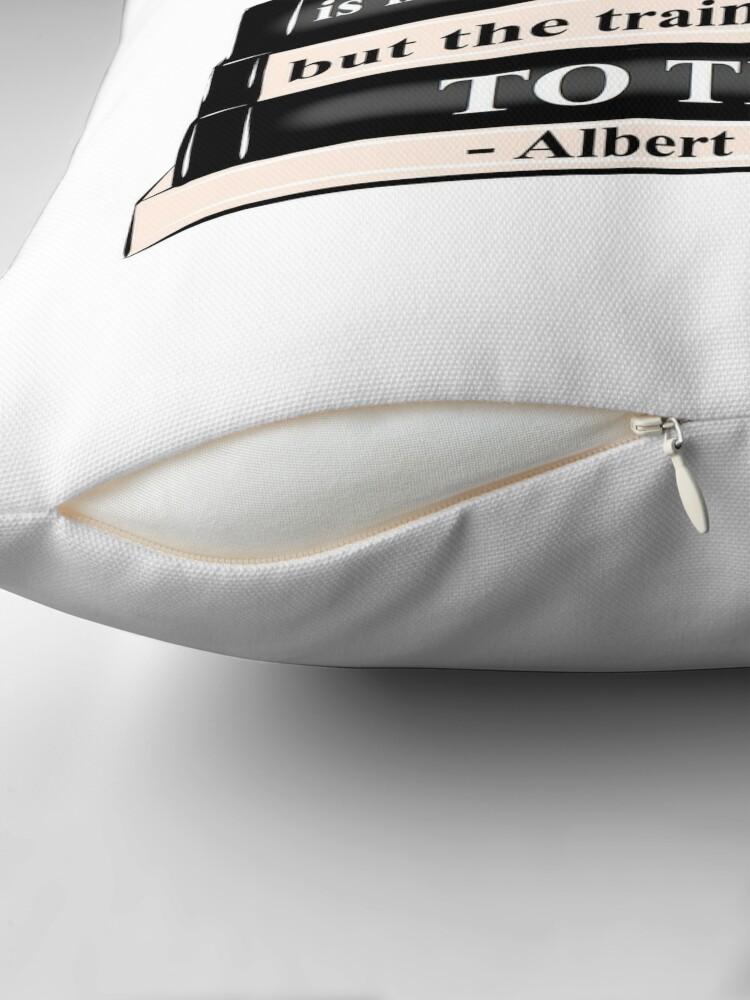 Alternate view of Sketch Noir - MOTIVATION Throw Pillow