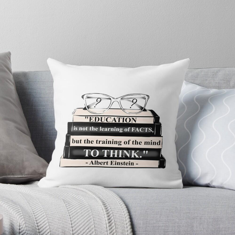 Sketch Noir - MOTIVATION Throw Pillow