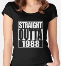 straight outta 1988 shirt Women's Fitted Scoop T-Shirt