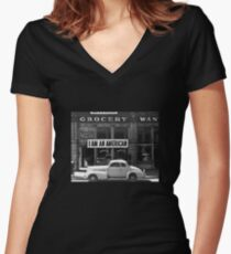 I Am An American - After Pearl Harbor - 1942 Women's Fitted V-Neck T-Shirt