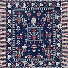 Antique Spanish Floral Carpet  by Vicky Brago-Mitchell
