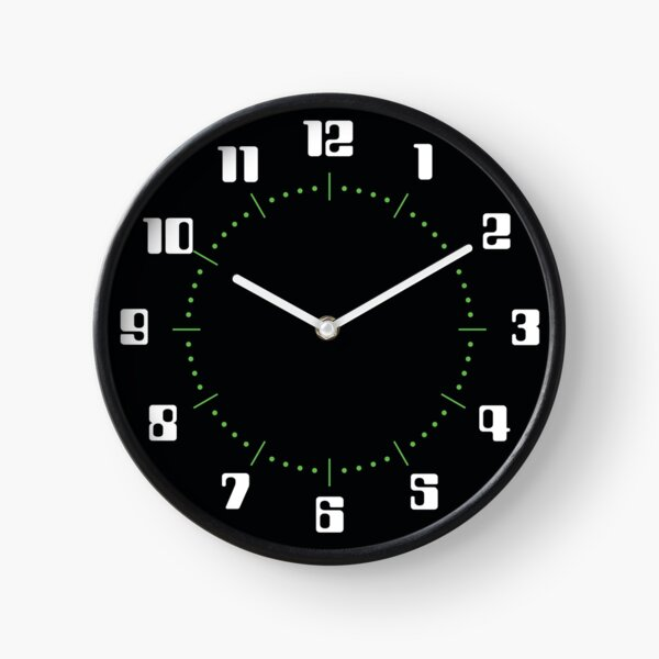 SPACE 1999 CLOCK TYPE 6 : COUNTDOWN FONT WHITE ON BLACK Clock