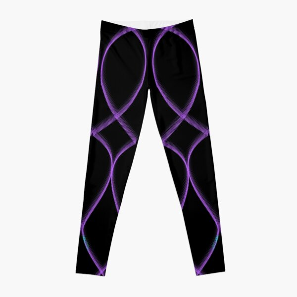 Leggings Black Purple  Leggings
