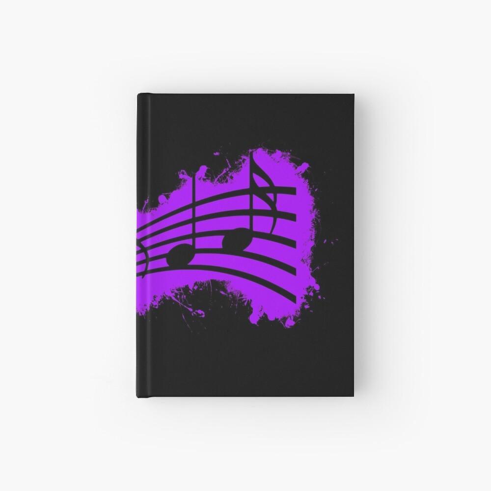 Silhouette musical purple and black silhouette Cuaderno de tapa dura