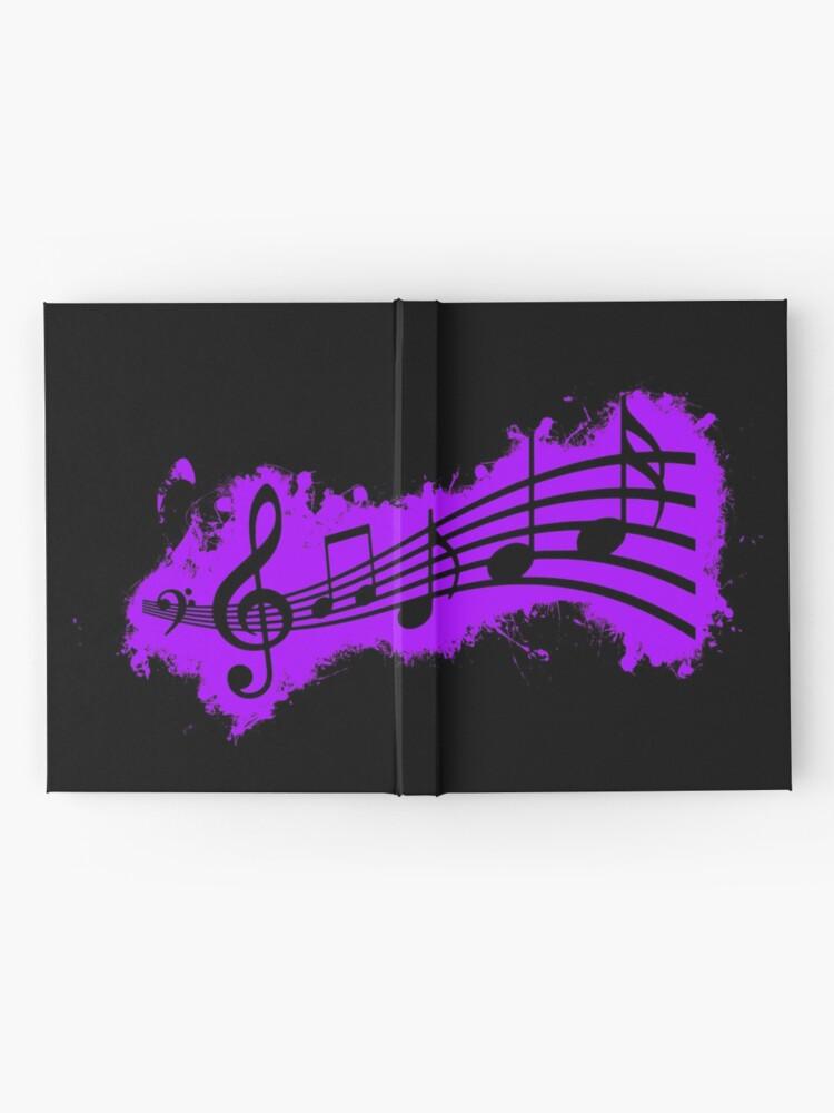Vista alternativa de Cuaderno de tapa dura Silhouette musical purple and black silhouette