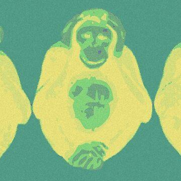 3 Wise Monkeys by EvilGravy