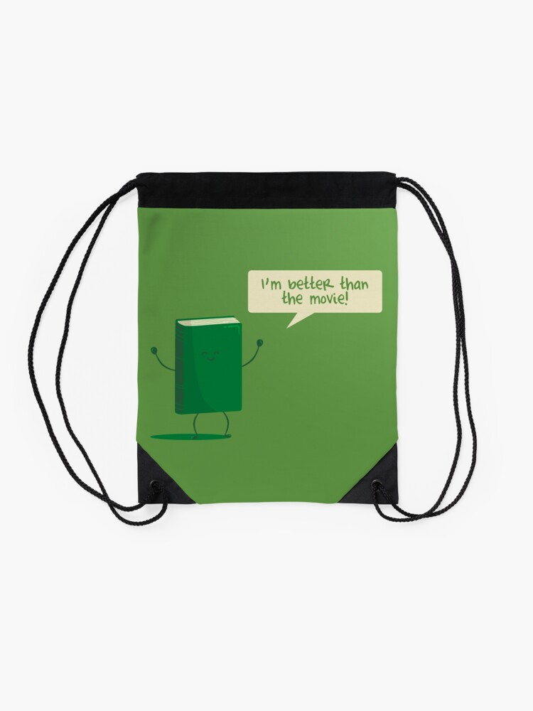 Alternate view of Better than the Movie Drawstring Bag