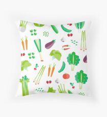 Long live the vegetables! Throw Pillow