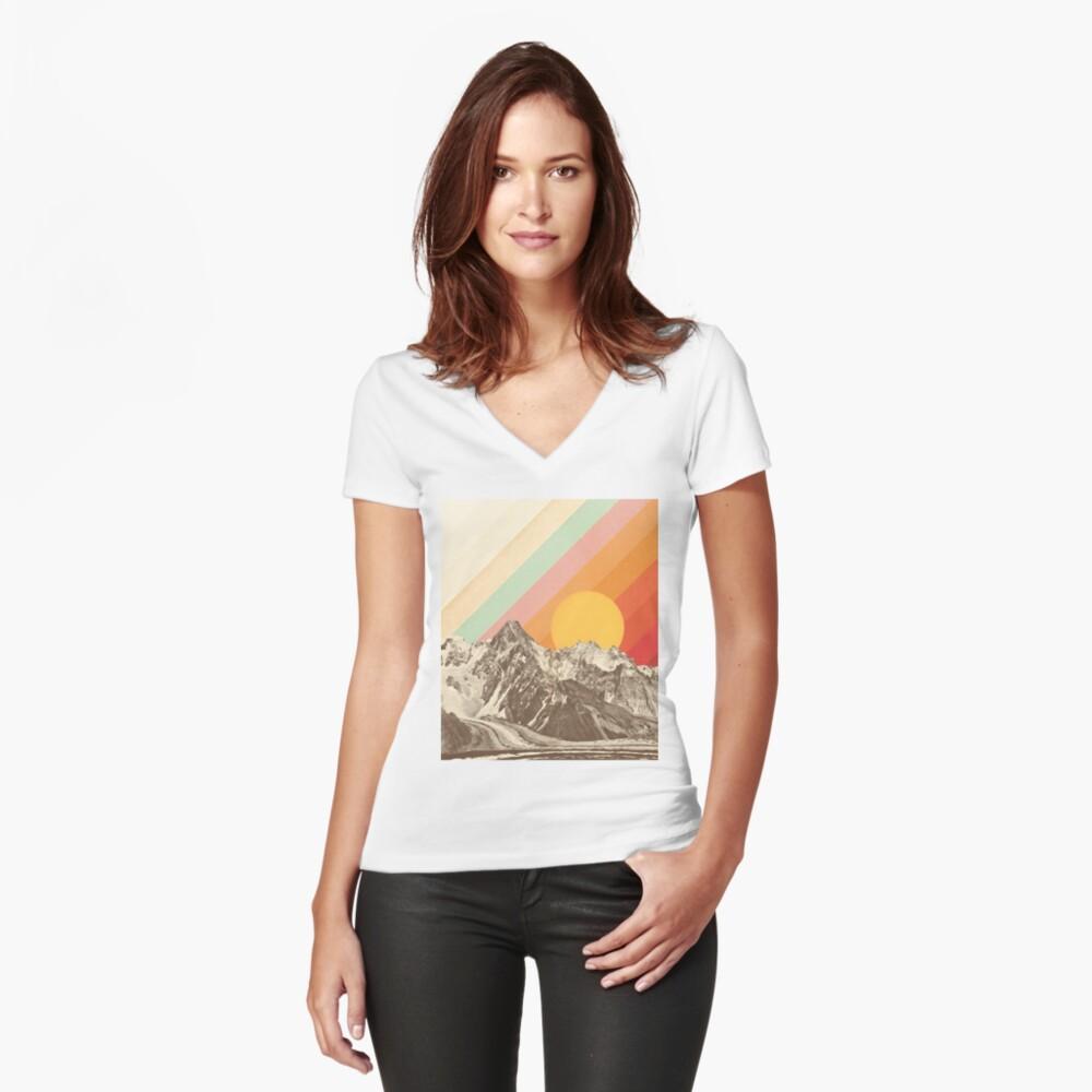 Berglandschaft # 1 Shirt mit V-Ausschnitt