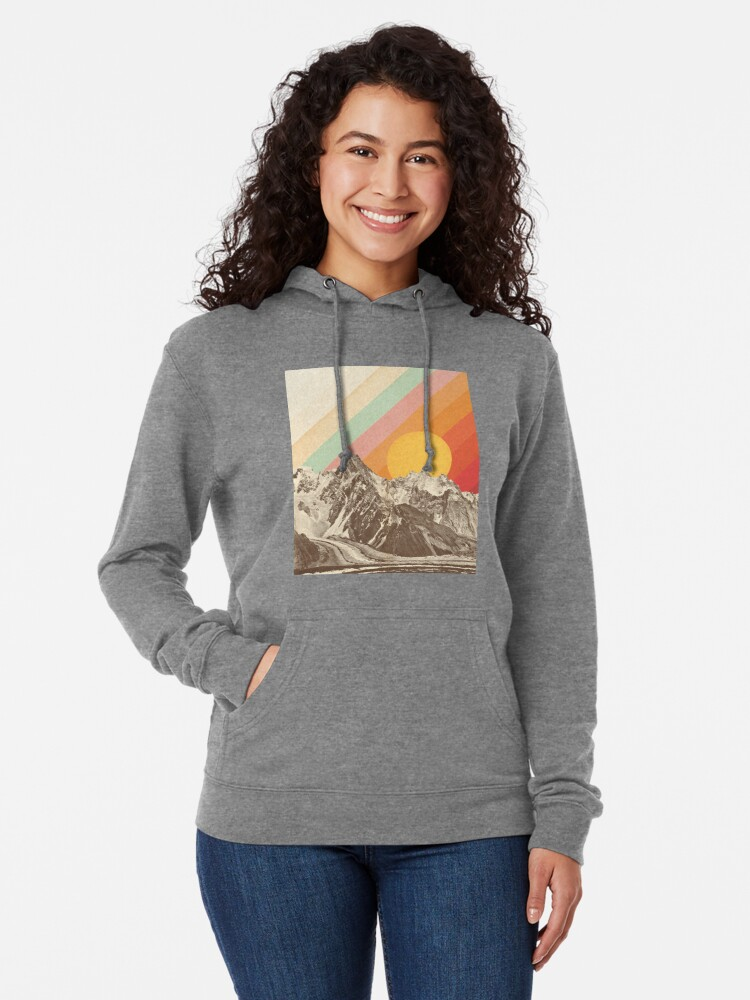 Alternate view of Mountainscape #1 Lightweight Hoodie