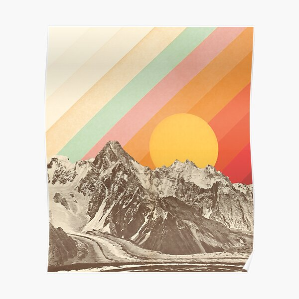 Snowboard Stylized Big Sky Montana Posters, Wood /& Metal Signs LP Artwork