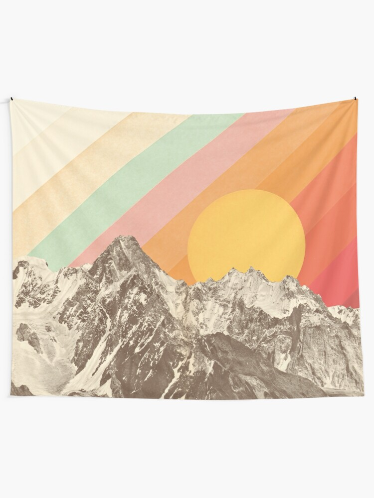 Alternate view of Mountainscape #1 Tapestry