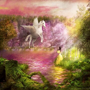 Fantasy - Pegasus - The enchanted garden by mikesavad
