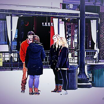 """""""UT Students Enjoying a Snow Day""""... prints and products by ArtbyBob"""