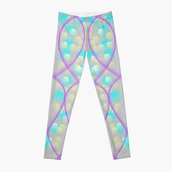 Leggings light purple and purple with blue and yellow squares Leggings