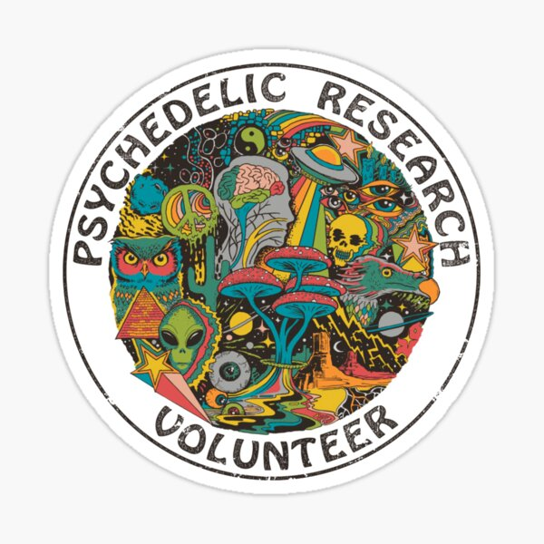 Psychedelic Research Volunteer Sticker