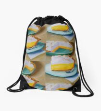 Lemon Meringue Pie Still life Food Dessert Kitchen art Impressionism  Drawstring Bag