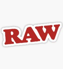 Pegatina RAW logo - Stoner Stickers