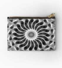 Gray Kaleidoscope Art 29 Studio Pouch