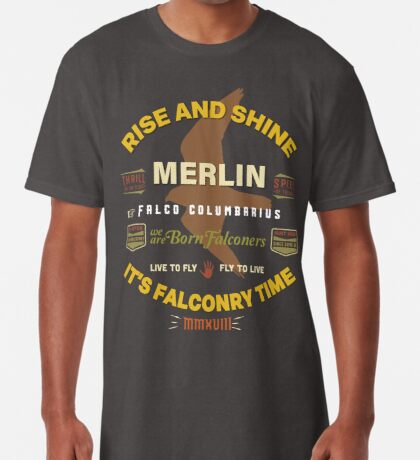 Merlin Falcon Apparel and Gear for Falconers who fly Merlins Long T-Shirt