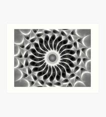 Gray Kaleidoscope Art 29 Art Print