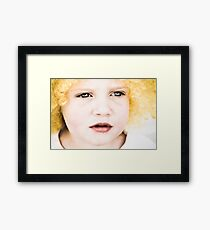 Mila and the Wig - 2 Framed Print