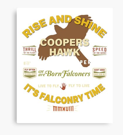 Coopers Hawk Apparel and Gear for Falconers who fly Coopers Hawks Canvas Print