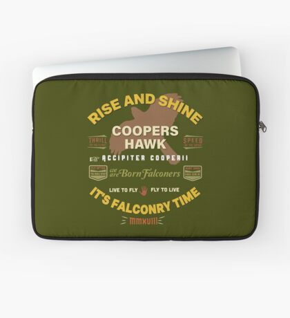 Coopers Hawk Apparel and Gear for Falconers who fly Coopers Hawks Laptop Sleeve