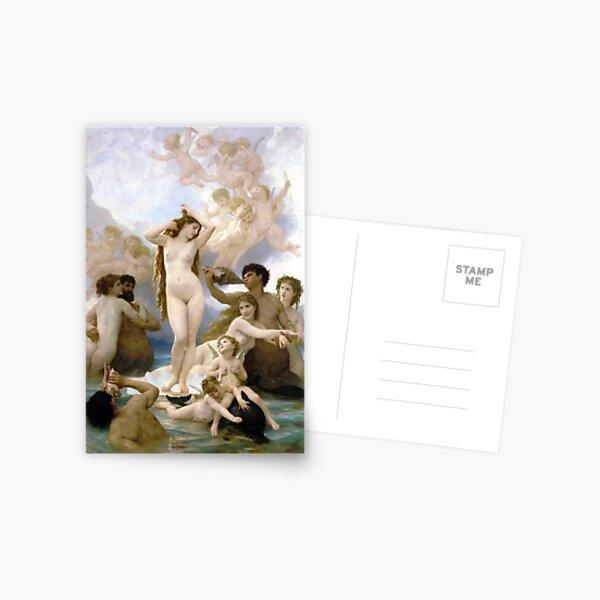 The Birth of Venus - William-Adolphe Bouguereau Postcard