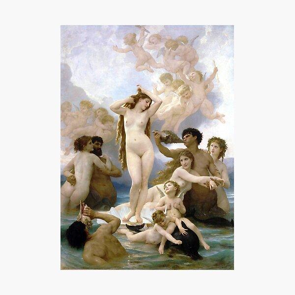 The Birth of Venus - William-Adolphe Bouguereau Photographic Print