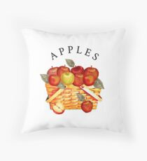 Fall Basket of Apples Throw Pillow