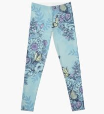 Beauty (eye of the beholder) - powder blue version Leggings