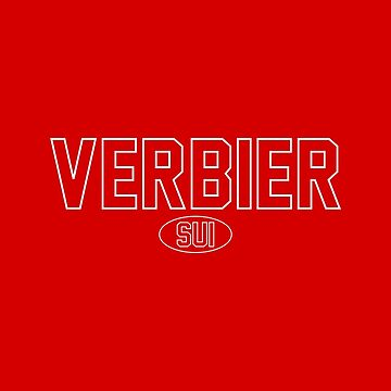 Verbier SUI White Outline Red Background by PEK1787