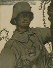 German Soldier gazing into No Man's Land, 1917 by edsimoneit