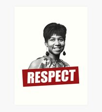 QUEEN OF RESPECT Art Print
