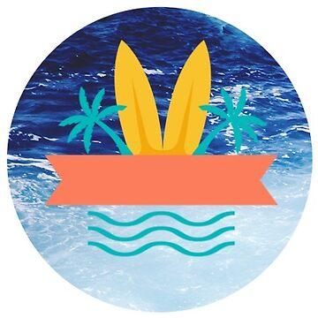 Surfing Beach Life Preppy Sticker  by WUOdesigns