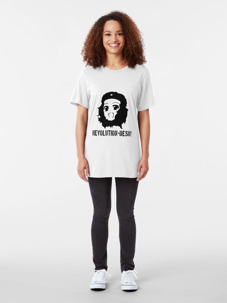 Alternate view of Revolution Desu!  Slim Fit T-Shirt